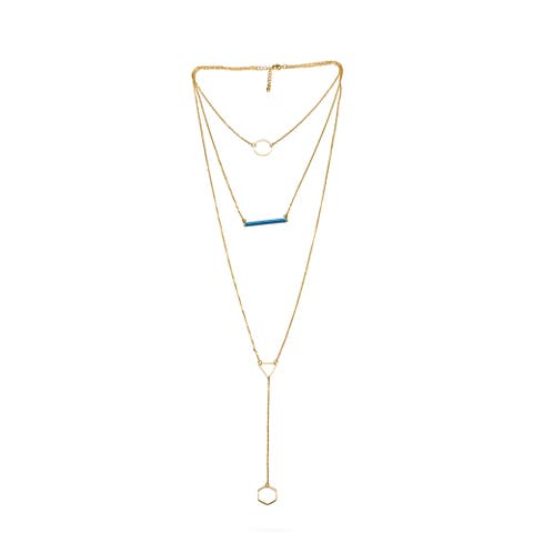 Alberto Moore Goldplated Biscay Bay Thread Multi-layer Necklace