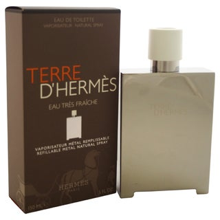 Hermes Terre D'Hermes Eau Tres Fraiche Men's 5-ounce Eau de Toilette Refillable Metal Spray