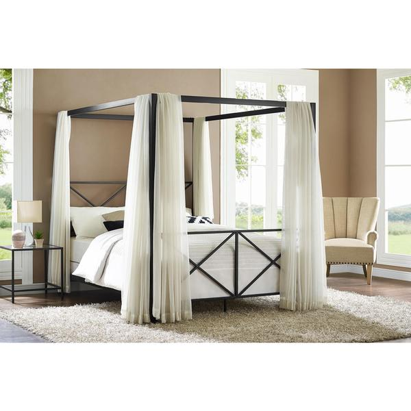DHP Rosedale Black Canopy Queen Bed   Free Shipping Today   Overstock com    18025063. DHP Rosedale Black Canopy Queen Bed   Free Shipping Today