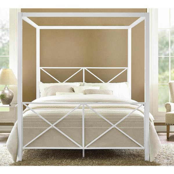DHP Rosedale White Canopy Queen Bed   Free Shipping Today   Overstock com    18025064. DHP Rosedale White Canopy Queen Bed   Free Shipping Today