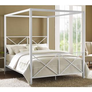 Clay Alder Home Commodore White Canopy Queen Bed & Canopy Bed For Less   Overstock.com
