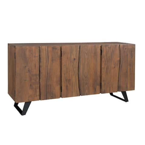 Wood and Metal 64 inch Loft Mid-century Style Sideboard