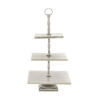 Creative Metal Marble 3 Tier Tray- 15*12*8