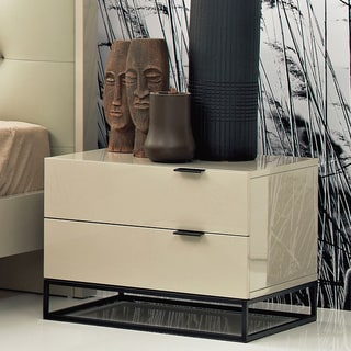 Devitto 2-drawer Night Stand with Metal Base