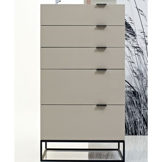 Devitto 5-drawer Chest with Metal Base
