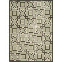 Safavieh Hand-Hooked Four Seasons Spa/ Dark Brown Rug - 4' x 6'