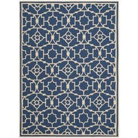 Safavieh Hand-Hooked Four Seasons Navy / Ivory Rug - 4' x 6'