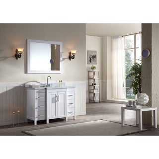 ARIEL Hollandale 49-inch White Single-sink Vanity