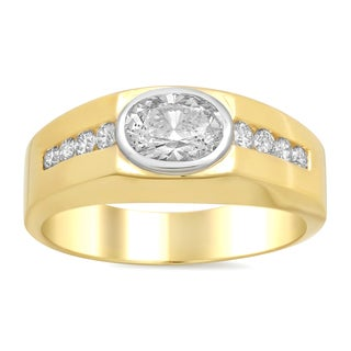 14k Two-tone Gold 1 1/4ct TDW Diamond Ring (D-E, SI2-SI3)