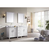 ARIEL Hollandale 73-inch Double-sink White Vanity Set