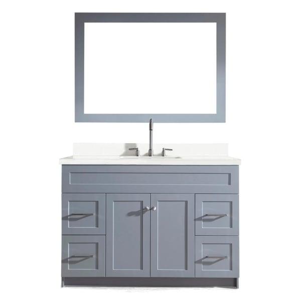Shop Hamlet 49-inch Single Sink Vanity Set with White ...