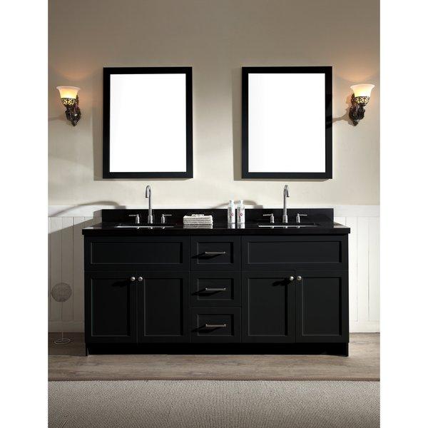 Hamlet 73-inch Absolute Black Double-sink Vanity