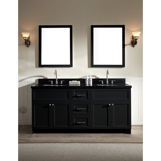 Hamlet 73-inch Absolute Black Double-sink Vanity