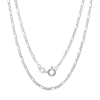 Sterling Essentials Silver 1 mm Figaro Chain (14-24 Inch )