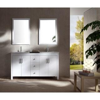 ARIEL Hanson 60-inch White Double-sink Vanity