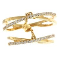 Anika and August 18k Yellow Gold 1/3ct TDW Round Diamond Stackable Ring (G-H, I1-I2)