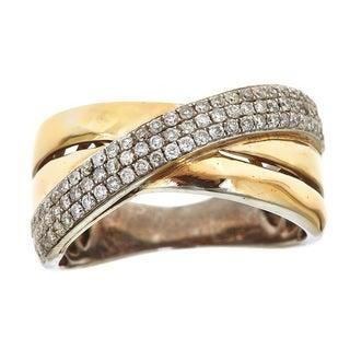 Anika and August 14k White Gold 1/2ct TDW Round Diamond Ring (G-H, I1-I2)