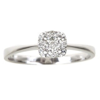 Anika and August 18k White Gold 2/5ct Round Diamond Engagement Ring