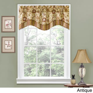 Traditions by Waverly Navarra Floral Window Valance (Option: 52x16 - Antique)