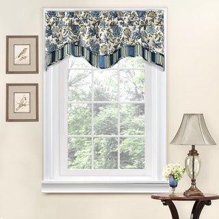 floral window valances waverly traditions by waverly navarra floral window valance red valances for less overstockcom