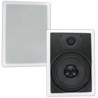 Theater Solutions TSS8W In Wall 8-inch Surround Sound HD Home Theater Rectangular Glass Fiber Speaker Pair