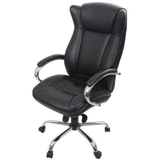 High Back Adjustable Height Bonded Leather Office Executive Chair