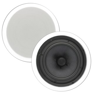 Theater Solutions TSS8C In Ceiling 8-inch Surround Sound HD Home Theater Round Glass Fiber Speaker Pair