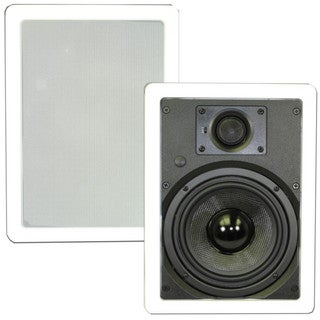 Theater Solutions TSS6W In Wall 6.5-inch Surround Sound HD Home Theater Rectangular Glass Fiber Speaker Pair