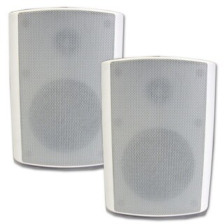 Theater Solutions TS5ODW Indoor/ Outdoor Weatherproof HD Mountable White Speaker Pair