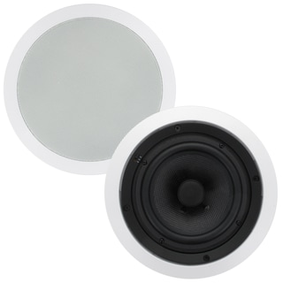 Theater Solutions TSS6C In Ceiling 6.5-inch Surround Sound HD Home Theater Round Glass Fiber Speaker Pair
