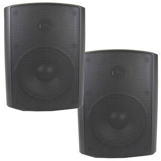 Theater Solutions TS5ODB Indoor/ Outdoor Weatherproof HD Mountable Black Speaker Pair