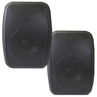 Theater Solutions TS525ODB Indoor/ Outdoor Weatherproof HD Mountable Black Speaker Pair