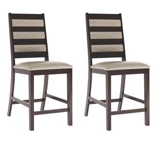 CorLiving Platinum Sage Fabric Bistro Dining Chairs (Set of 2)