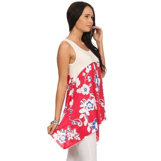 MOA Collection Women's Flower Sleeveless Top