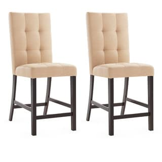 CorLiving Desert Sand Tufted Fabric Bistro Dining Chairs (Set of 2)