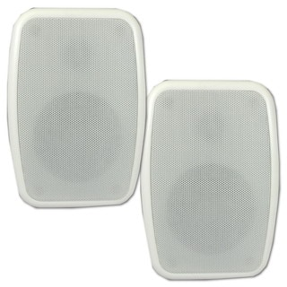 Theater Solutions TS4ODW Indoor/ Outdoor Weatherproof HD Mountable White Speaker Pair