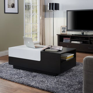 Furniture of America Laustor Modern Two-tone Black/White Slide-top Coffee Table