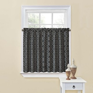 Waverly Black Lovely Lattice 60-inch Tier Pair