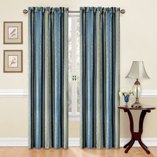 Traditions by Waverly Stripe Ensemble Curtain Panel