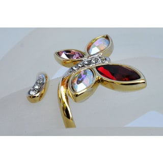 "Beautiful Hypoallergenic Ring with Austrian Crystal ""Dominica"""