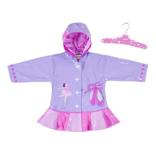 Kidorable Kids' Lightweight Printed Ballerina Rain Coat