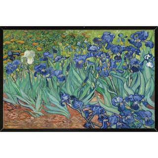 Van Gogh Irises Wall Plaque (30 inches x 24 inches)