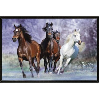 Wild Horses Wall Plaque (36 inches x 24 inches)