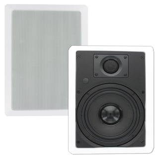 Theater Solutions TS65W In Wall 6.5-inch Surround Sound Home Theater Rectangular Kevlar Speaker Pair