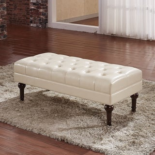 Castillian Premium Selcted Faux Leather Rectangle Ottoman Bench