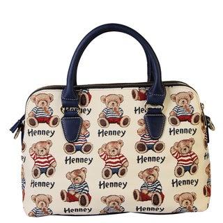 Henney Bear Stripe Bear Handbag
