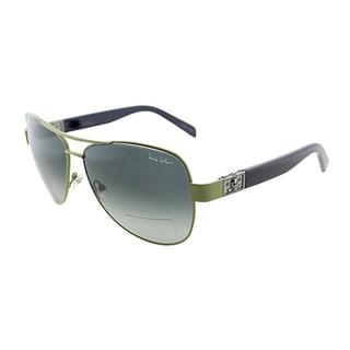 Nicole Miller Women's 'Stone' Green Metal Aviator Sunglasses