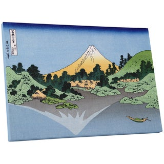 Hiroshige 'Mt. Fuji Reflection' Gallery Wrapped Canvas Wall Art