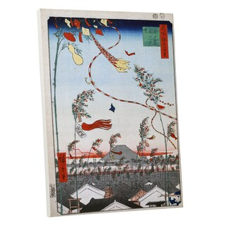 Hiroshige 'Kites' Gallery Wrapped Canvas Wall Art