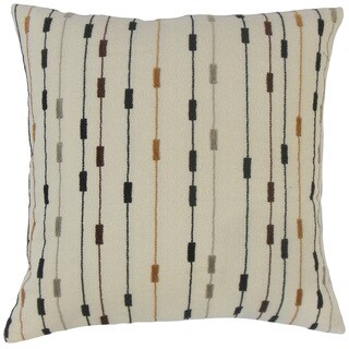 Wanbli Stripes 18 Inch Down and Feather Throw Pillow